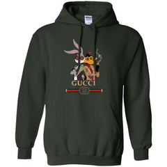 2134eb87fcb Gucci Trending Rabbit And Donald Hoodie Forest Green Amazon Best Sellers -  Ut.Style