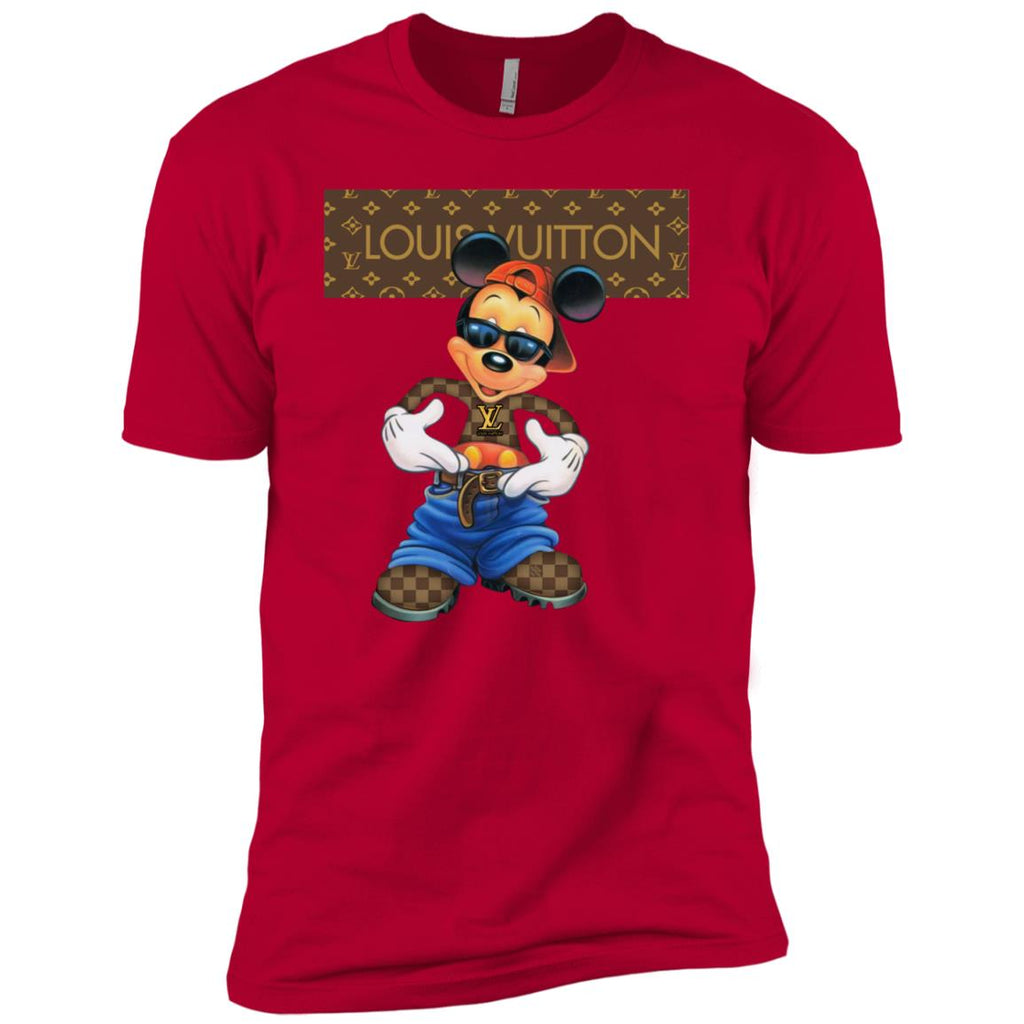 e1ad3897 Louis Vuitton Mickey Mouse Cartoon Short Sleeve T-Shirt Red Amazon Best  Sellers - Ut