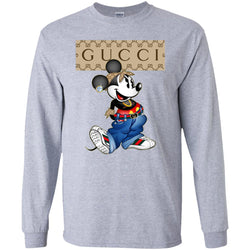 753efc343f2 Gucci Mickey Mouse Trending Long Sleeve T-Shirt White Amazon Best Sellers -  Ut. ...