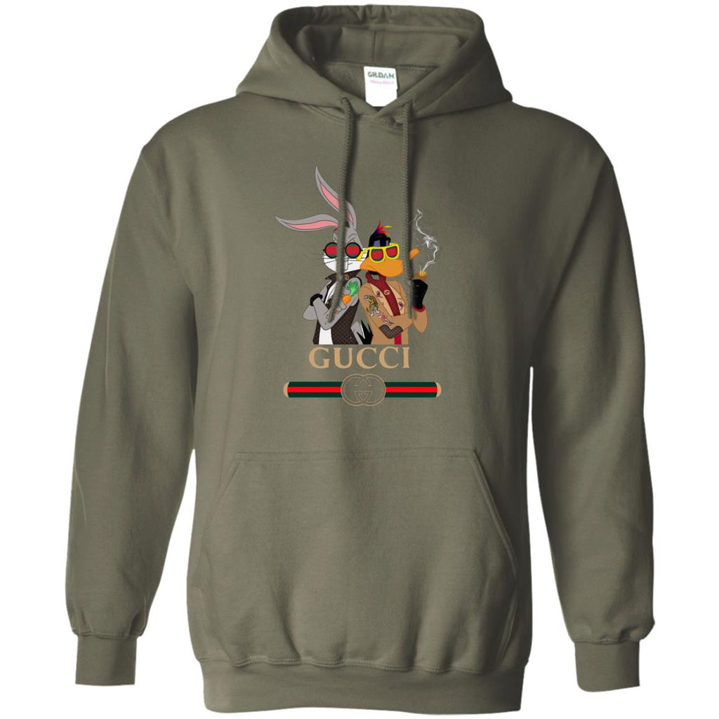 59b22d84121 Gucci Trending Rabbit And Donald Hoodie Military Green Amazon Best Sellers  - Ut.Style