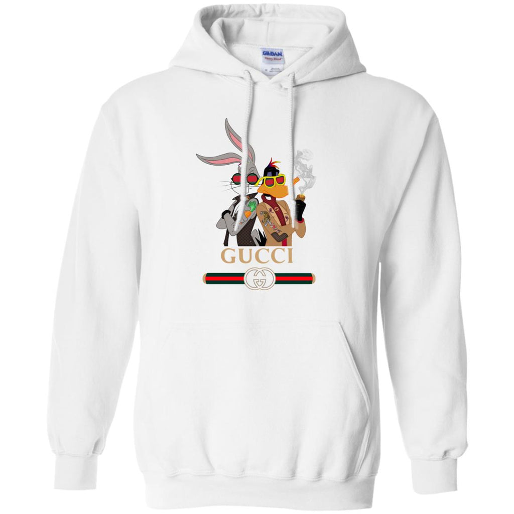 798543dae17 Gucci Trending Rabbit And Donald Hoodie White Amazon Best Sellers - Ut.Style