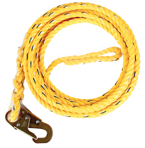 "Guardian Fall Protection 01340 50' Standard 5/8"" Rope With Snap Hook"