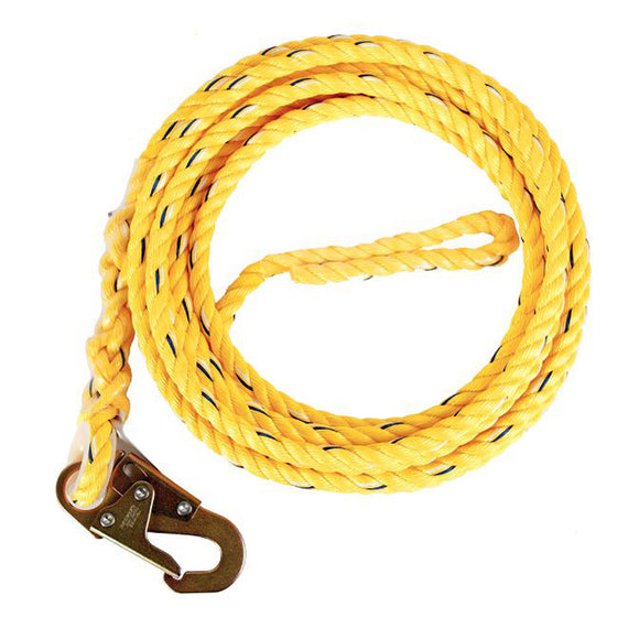 Guardian Fall Protection 01360 100' Ploy Steel Rope With Snap Hook End