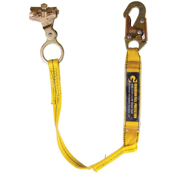 Guardian Fall Protection 01503 Rope Grap W/ Attached 3' shock Absorbing Lanyard