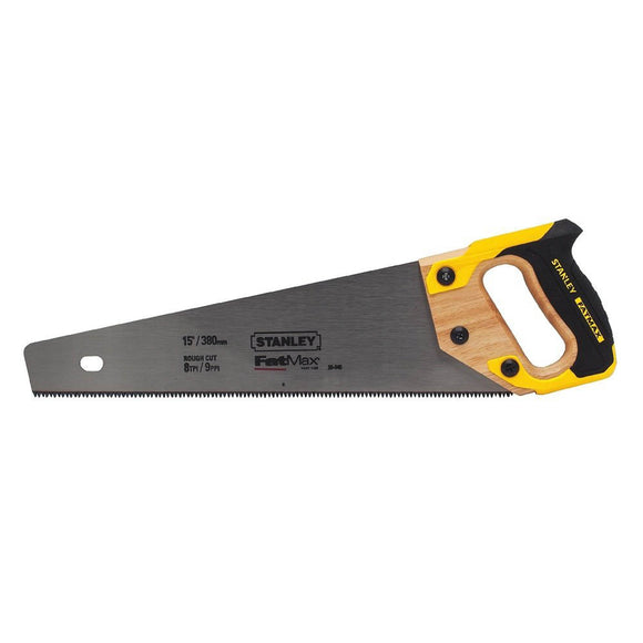 Stanley 20-045 Fatmax Hand Saw, 15 In L, 8 Tpi, Induction Hardened