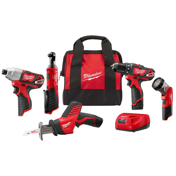 Milwaukee 2498-25 M12 5-Tool Combo Kit