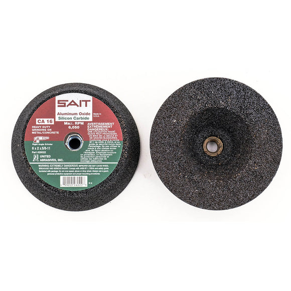 United Abrasives 26002 CA16 Combination Cup Stones Plain