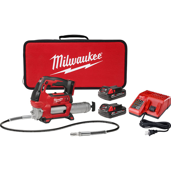 Milwaukee 2646-22CT M18 Cordless 2-Speed Grease Gun Kit