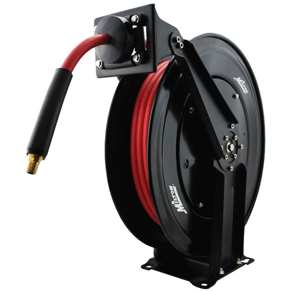 Milton 2760-50D Steel Dual Arm Auto-Retractable Air Hose Reel, 3/8