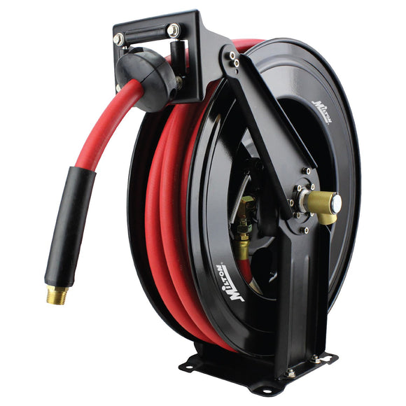 Milton 2780-50D Steel Dual Arm Auto-Retractable Air Hose Reel, 1/2
