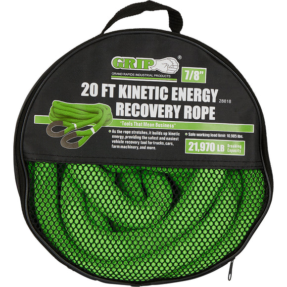 Grip On 28818 Kinetic Energy Recovery Rope 7/8 In. Dia x 20 Ft. L