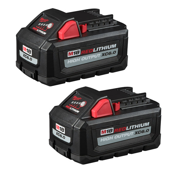 Milwaukee 48-11-1862 M18™ REDLITHIUM™ HIGH OUTPUT™ XC6.0 Battery Pack (2 Pk)