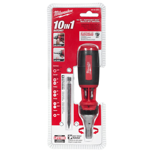 Milwaukee 48-22-2301 10IN1 ECX™ Ratcheting Multi Bit Driver