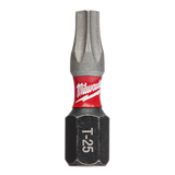 Milwaukee 48-32-4784 Power Screwdriver Bit, T20, Torx, 1/4 In Hex Shank, 2 In L, Steel