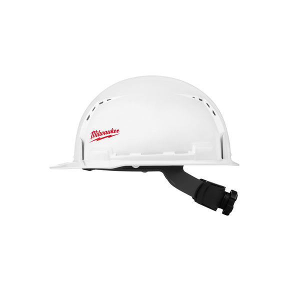 Milwaukee Brim Hard Hats with BOLT Accessories (Front or Full Brim / Class E or Class C) Small Logo
