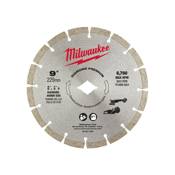 Milwaukee 49-93-7025 9 In Diamond Premium Segmented Blade