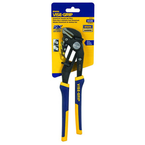 IRWIN Industrial 4935097 GrooveLock Pliers, Smooth Jaw, 10-inch
