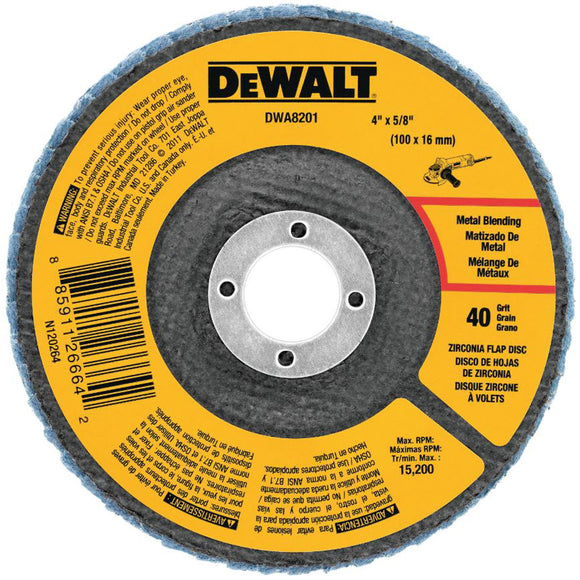 Dewalt DWA8206H Flap Disc 40G 5/8-11 TYPE 29