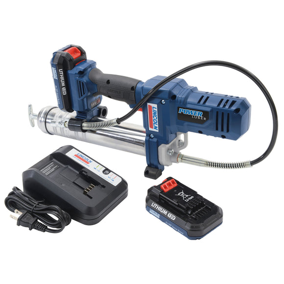 Lincoln Industrial 1264 PowerLuber 12V Lithium Ion Grease Gun Kit with 2 Batteries