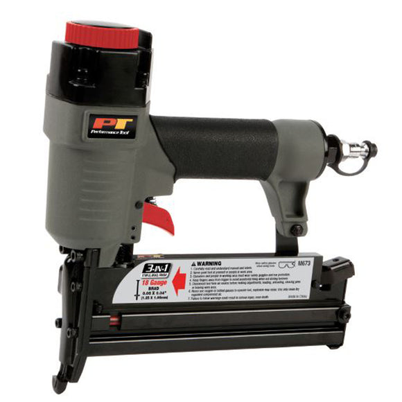 Performance Tool M673 3-in-1 Air Nailer 18GA