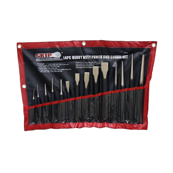 Grip-on 61104 14 Pc Punch & Chisel Set – 6/1