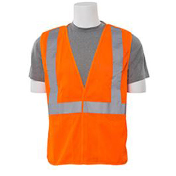 ERB Industries S320 Class 2 Mesh Breakaway Vest Orange (Size: L-XL)