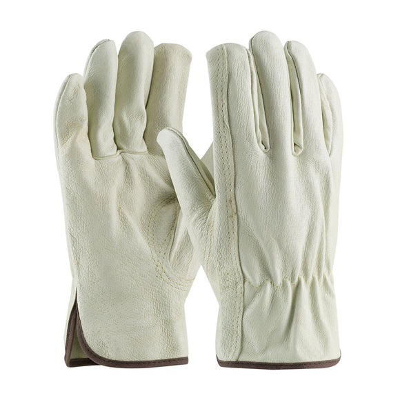 PIP Premium Grade Top Grain Pigskin Leather Drivers Glove - Keystone Thumb (Multiple Sizes Available)