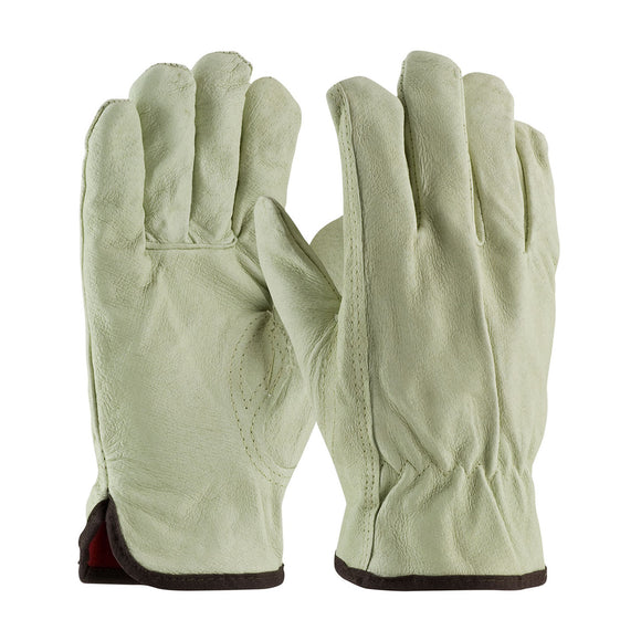 PIP Top Grain Pigskin Leather Glove with Red Thermal Lining - Keystone Thumb