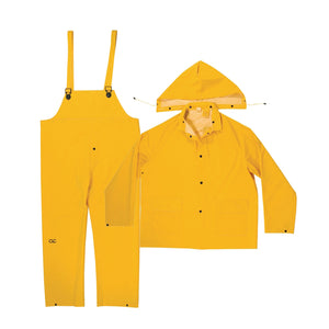 Custom Leathercraft R101 Rain Suit PVC, Yellow (Multiple Sizes Available)