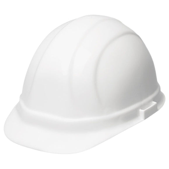 ERB Industries 19951 White Hard Hat With Ratchet Suspension Omega II