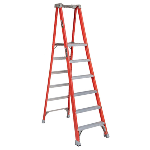 Louisville Ladder FXP1706 6 Foot Fiberglass Pinnacle Pro Platform Ladder, Type IA, 300 Pound Load Capacity