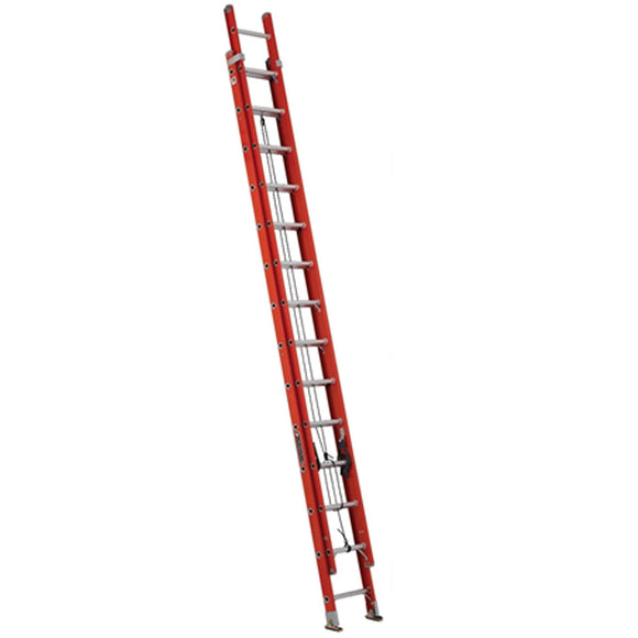 Louisville Ladder FE3228 28 Foot Fiberglass Extension Ladder, Type IA, 300 Pound Load Capacity