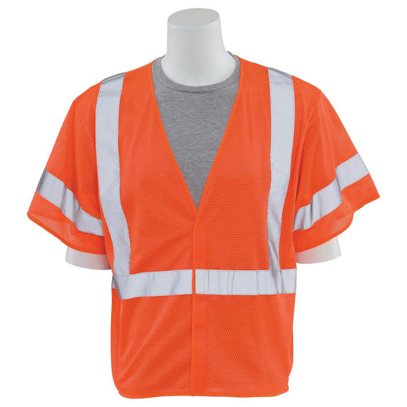 ERB Industries 14560 S662 Class 3 Mesh Safety Vest Orange X-Large