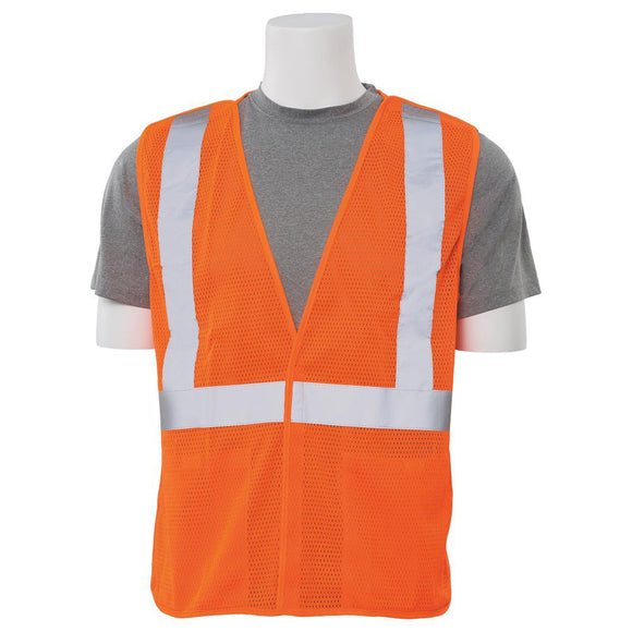 ERB Industries 61114 S320 Class 2 Mesh Break-Away Safety Vest Orange X-Large
