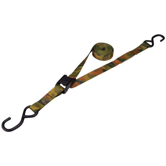 ProSource FH64068 Tie-Down Kit, 400 Lb Work, 10 Ft L, S-Hook, Polyester Webbed, Camo