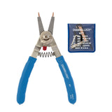 Channellock 927 Convertible Internal/External Snap Ring Plier, 8 In Oal, Straight, 90 Deg Jaw