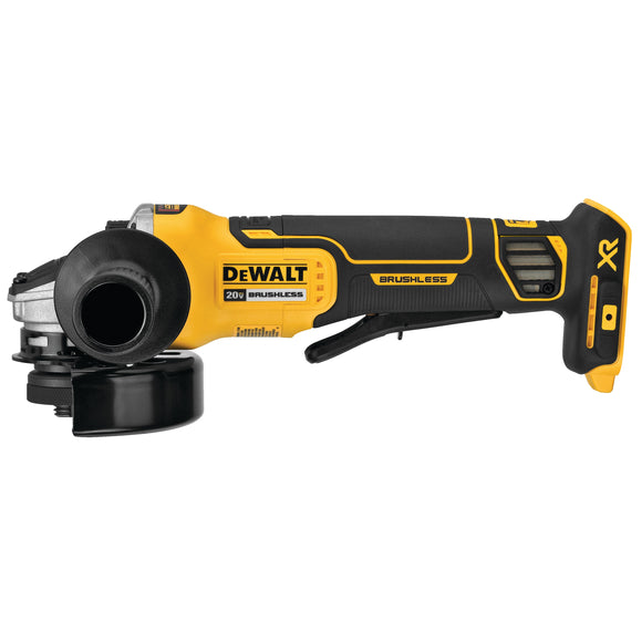 Dewalt DCG413B 20V MAX* XR® 4.5 In. Paddle Switch Small Angle Grinder With Kickback Brake (Tool Only)
