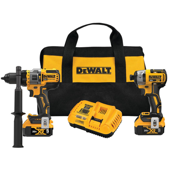 Dewalt DCK2100P2 20V Max Brushless Cordless 2-Too Kit, Hammer Drill/Driver With Flexvolt Advantage