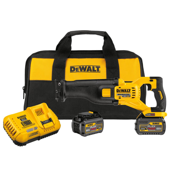 Dewalt DCS388T2 Brushless Reciprocating Saw, 60 Vac, 6 Ah Li-Ion Battery