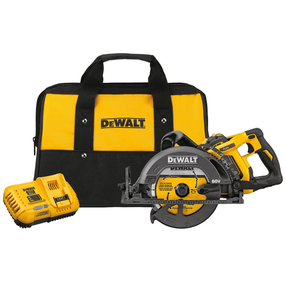 DeWalt DCS577X1 Flexvolt 60V Max 7-1/4 In Cordless Saw 9.0Ah Battery Kit