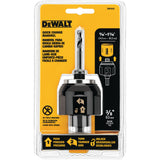 Dewalt DW1803 Bi-Metal Quick Change Hole Saw Mandrel, 7/16 In Hexagonal Shank, 1/2 In Chuck