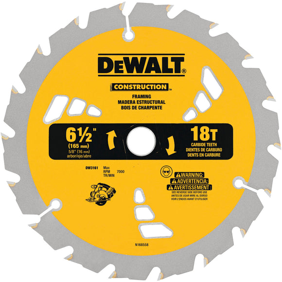 DeWalt DW3161 SMALL DIAMETER CONSTRUCTION SAW BLADES