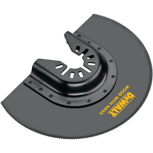 Dewalt DWA4212 Oscillating Flush Cut Blade, 4 In, 4 In L, Bi-Metal, Black