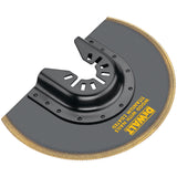 Dewalt DWA4213 Oscillating Flush Cut Blade, 4 In, 4 In L, Steel, Titanium Coated, Black