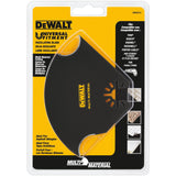 Dewalt DWA4214 Oscillating Multi Material Blade, 5-1/2 In, 5-1/2 In L, Steel, Black