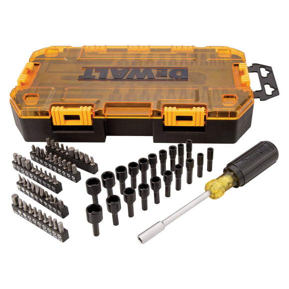 DeWalt Dwmt73808 Multi-Bit And Nut Driver Set, 70 Pieces