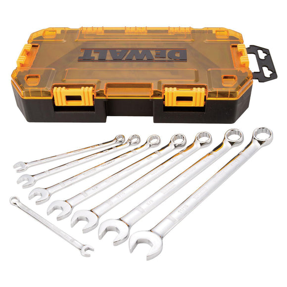 Dewalt DWMT73809 Combination Wrench Set, 8 Pieces, Chrome