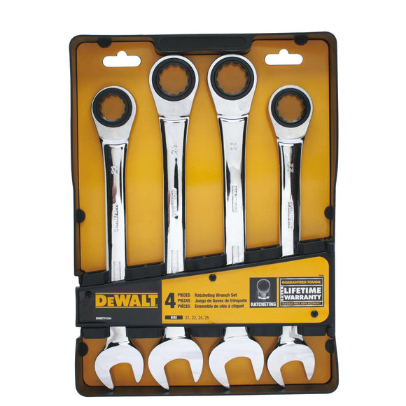 DeWalt 74194 JUMBO RATCHETING COMBO WRENCH SET (MM) DWMT74194