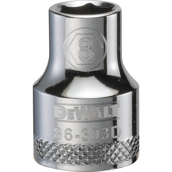 Dewalt DWMT86303OSP Socket, 3/8 In, 8 Mm, 6 Point