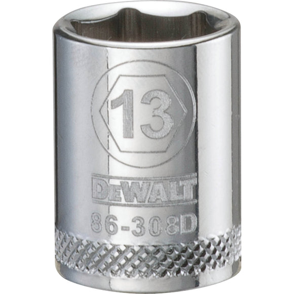 Dewalt DWMT86308OSP Socket, 3/8 In, 13 Mm, 6 Point